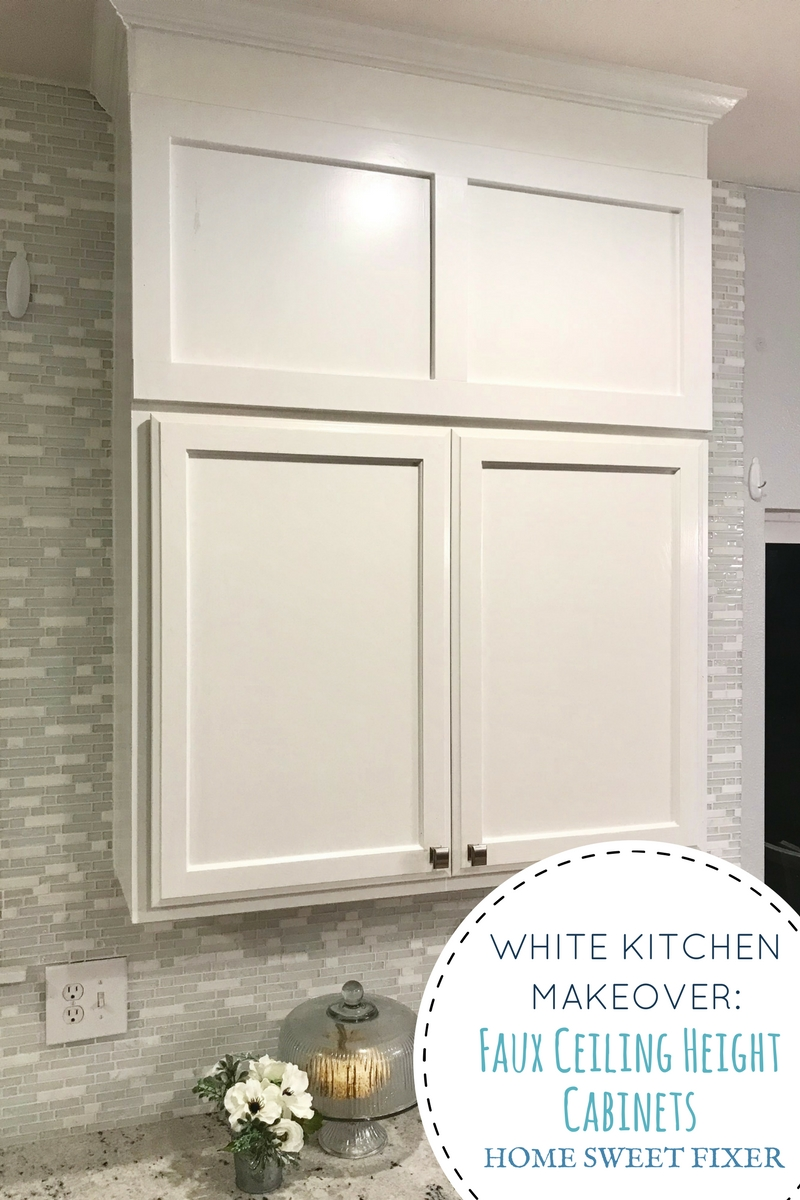 Build Faux Kitchen Cabinets to the Ceiling ~ Home Sweet Fixer